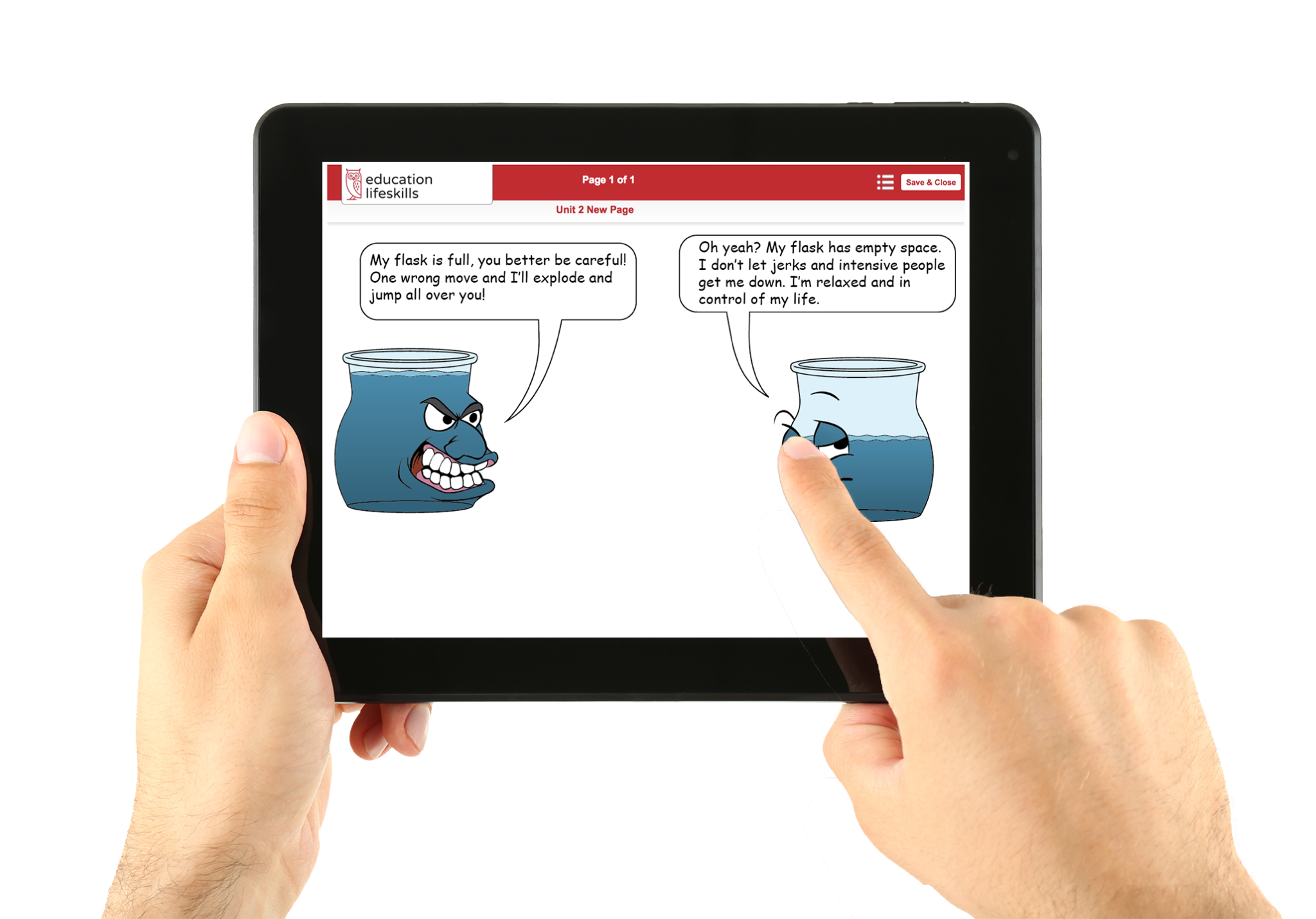 Character Development Curriculum on an iPad
