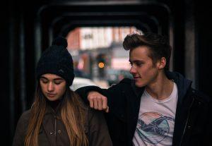 Two teen friends